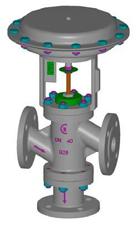 Valvulas de controlo pneumaticas de 3 vias desviadoras