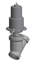 Valvulas pneumaticas onoff de sede inclinada roscada ou pontas para soldar