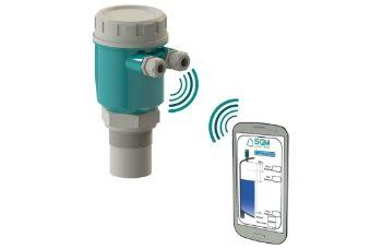 Sensor de nível ultrassónico com BLUETOOTH®