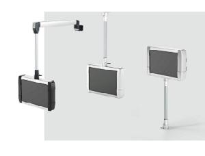 O sistema de sustentação CS-480 B.flex, para a conexão de IPCs encapsulados ou de painéis de comando